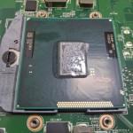 Naprawa laptopa HP 630, układ chłodzenia, wentylator nie działa, czyszczenie procesora.